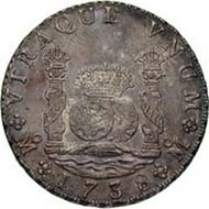 Spain, Philip V, king of Spain 1700-1746, real de a ocho, silver, Mexico City, 1738