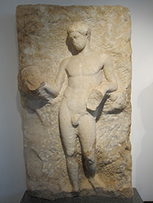 Unfinished statue of an athlete in the Museum of Aphrodisias. Photo: KW.