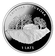 Latvia / 1 lats / silver .925 / 22g / 35mm / Design: Aigars Ozolins (graphic design), Ligita Franckevica (plaster model) / Mintage 5,000.