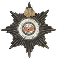 Los 1655: PREUSSEN, Bruststern der I. Klasse des Roten Adlerordens mit Eichenlaub. Zuschlag: 7.800 Euro, Ausruf: 2.000 Euro.