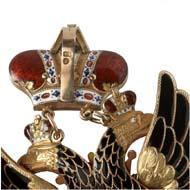 8803: Russland. Kaiserlicher und Königlicher Orden vom Weißen Adler. Schätzung: 40.000 Euro. Zuschlag: 160.000 Euro.