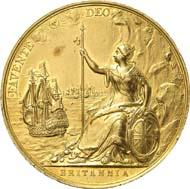 304: Sammlung Adams - Friedensmedaillen: Großbritannien. Charles II., 1660-1685. Goldmedaille o. J. (1667), unsigniert von J. Roettiers auf den Frieden von Breda. Eimer 251. Von großer Seltenheit. Sehr schön bis vorzüglich. Schätzung: 6.000 Euro. Zuschlag: 24.000 Euro.
