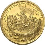 1770: Münzen und Medaillen der Päpste: Clemens XI., 1700-1721. Goldmedaille 1719 von E. Hamerani auf die Mission in Asien. Bartolotti 719. Von großer Seltenheit. Vorzüglich bis Stempelglanz. Schätzung: 4.000 Euro. Zuschlag: 21.000 Euro.