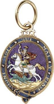 8674: Great Britain. Order of the Garter. Gem of the sash. Estimate: 10,000 euros. Hammer price: 36,000 euros.