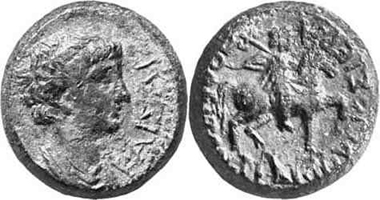 Hierapolis. Nero, 54-68. Rv. Reitergott n. r. Gorny & Mosch 134 (2004), 1994.
