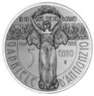 Italy / 5 euros / silver .925 / 18g / 32mm.