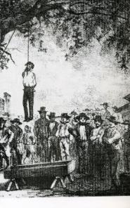 Lynchjustiz: Die Hinrichtung des Rafael Escobar, der des Mordes beschuldigt wurde. Er war bereits der zehnte Mann, den man an diesem Baum hängte.