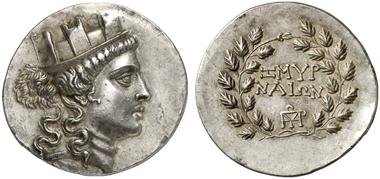 Smyrna. Tetradrachm, 2nd century BC. Gorny & Mosch 211 (2013), 376.