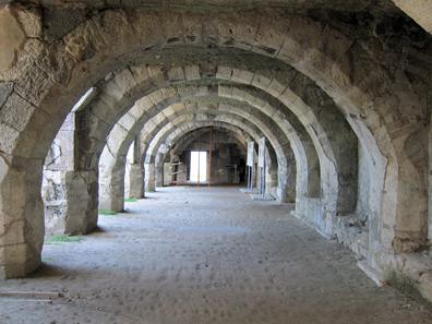 Underground vaults. Photo: KW.