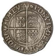 England, Elisabeth I., Königin von England 1558-1603, Shilling (16,17 g), Silber, 1591
