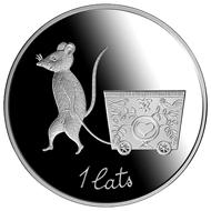 Latvia / 1 lats / silver .925 / 22g / 35mm / Design: Anita Paegle (graphic design), Janis Strupulis (plaster model) / Mintage: 5,000.