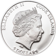 Cook Islands / 5 Dollar / Silber .925 / 20 g / 38,61 mm / Auflage: 2013.