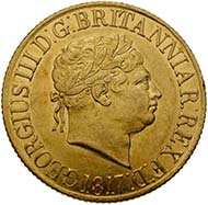 England, George III, king of England 1760-1820, sovereign, gold