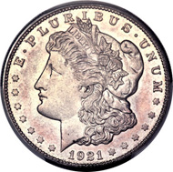 Lot 5795: 1921-S $1 SP65 PCGS. CAC.