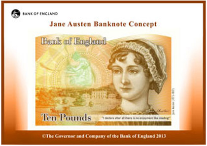 Jane Austen Banknote Concept. © The Governor and Company of The Bank of England 2013.