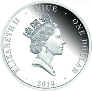 Niue / 1 $ / silver / 25g / 40mm / Mintage: 4,000.