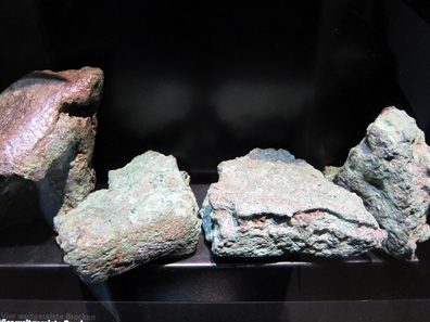 Fragments of a Cypriote copper ingot from the hoard find of Oberwilflingen. 14th / early 13th cent. B. C. Photograph: KW.