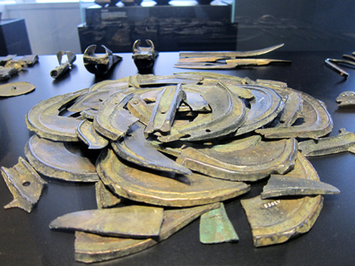 Bronze hoard consisting of 110 items. Photograph: KW.