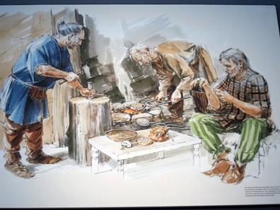 Rekonstruktion einer keltischen Münzwerkstatt. Foto: KW.