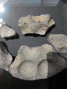 Tüpfelplatte, found in Gerlingen, Ludwigsburg district, 2nd/1st cent. Photograph: KW.