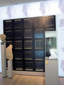 Roman coins. Photograph: KW.