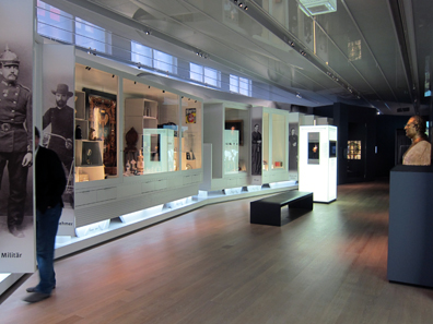 A view inside the permanent exhibtition. Photograph: KW.