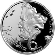 Latvia / 1 lats / silver .925 / 22g / 35mm / Design: Aigars Ozolins (graphic design of obverse), Ivo Grundulis (graphic design of reverse) and Ligita Franckevica (plaster model) / Mintage: 5,000.