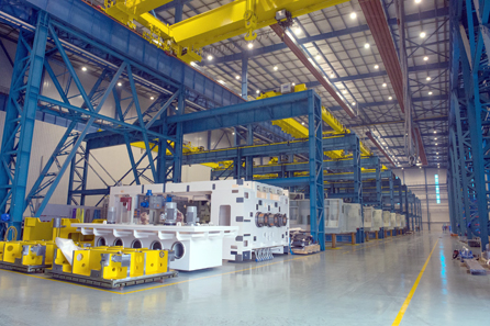 Schuler can produce a wide variety of machines here, ranging from stamping and cutting systems to press lines. © Schuler Group.