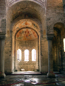The importance of the Byzantine church lies in the ensemble of architecture, painings and mosaics - all images have been covered to avoid praying visitors feeling insulted by them. Photo: Alaexis / http://creativecommons.org/licenses/by-sa/3.0/deed.en
