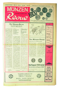 Die erste Ausgabe der MünzenRevue erschien im November 1969 mit 12 Seiten Umfang im Zeitungsformat. Schon in der ersten Nummer gab es den