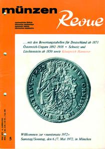 1972 firmierte die MünzenRevue im Untertitel als