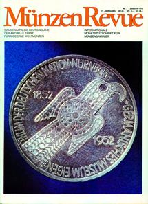 Nahe am heutigen Layout: die MünzenRevue im Januar 1979 mit 72 Seiten Umfang und dem leicht veränderten Untertitel