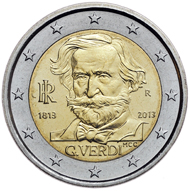 Italy / 2 EUR / nickel, brass and copper / 8.50g / 25.75mm / Mintage: 16,000.