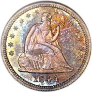 5588: 1844 Proof Quarter 25C PR66 NGC. CAC. Realized: $285,500.