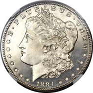 5778: 1884-CC Morgan Dollar, PR66 Cameo. Realized: $176,250.