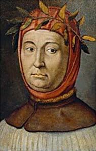 Portrait of Francesco Petrarch.