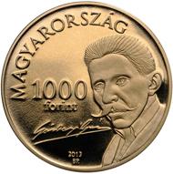 Hungary / 1,000 HUF / CuNiZn / 9.4 g / 29.2 mm / Design: Gábor Benö Pogány / Mintage: 10.000.