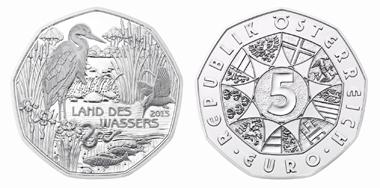 Die neue Münze anlässlich des UNESCO-Weltwasserjahres in Silber.