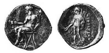 Svoronos 314,1, Taf. 30,12; Le Rider XXVII, 20; Exemplar SNG Lockett 2608; MM 66; 1984, 219; 26 mm, 10,78 gr.
