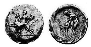 Svoronos 315,6, Taf. 30,18; Le Rider IX, 11; Exemplar Leu 13, 1975, 183; 25 mm; 11,45 gr.