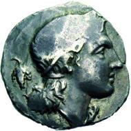 Svoronos 315,5, Taf. 30,17; Le Rider IX, 10; Exemplar Sammler-Merkur; 26 mm; 11,30 gr.