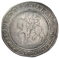 ENGLAND: Charles I, 1625-1649, AR crown (29.42g), Oxford, 1643, KM-226.1, Fine to VF. Estimate: $3,100-3,300.