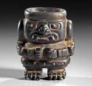 173: PERU, Chavin Hochland. Ca. 800-400 v. Chr. Kleines Gefäß. Aus einer belgischen Privatsammlung. Schätzpreis: 3.750 Euro.