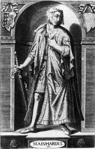 Graf Meinhard III. von Tirol, Herzog von Oberbayern; Stich. Bildarchiv der Österreichischen Nationalbibliothek, Wien, für AEIOU.