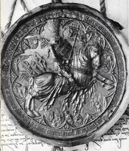 Rudolf IV. betrachtete das Jahr 1363 als entscheidenden Wende: Auf seinem großen Reitersiegel ergänzte er das Lanzenfähnchen mit dem Tiroler Adler und ließ darüber