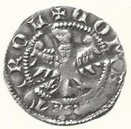 Kreuzer Rudolfs IV. (des Stifters ) von Habsburg aus der Münzstätte Meran. Dm 19 mm.
