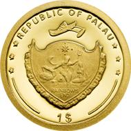 Palau / 1 dollar / gold .9999 / 0.5g / 11mm / Mintage: 15,000.