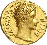 Nr. 71: Old Sable Collection. Augustus, 27 v. Chr. - 14 n. Chr. Aureus, 14-12, Lugdunum. RIC 164a. Aus Auktion NAC 64 (2012), 1063. Sehr selten. Vorzüglich. Schätzung: 25.000 Euro.