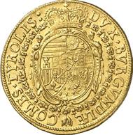 Nr. 4633: RDR. Erzherzog Ferdinand Karl, 1632-1662. Dukat o. J. (1649), Hall. Fr. 243. Äußerst selten. Sehr schön bis vorzüglich. Schätzung: 10.000 Euro.