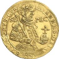 Nr. 5115: Schweiz. Chur, Bistum. Peter II. Rascher, 1581-1601. 7 Dukaten o. J. HMZ 2-393a. Sehr selten. Vorzüglich. Schätzung: 10.000 Euro.